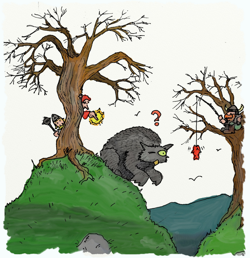 La caccia all'Orso Gufo è un' impresa non scevra di pericoli