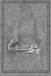 Prunilla Mangiafecola in un'illustrazione di Gustavo Crembrùlé, allegata alla terza edizione delle 'Nebbie di Jürgen'.